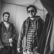 Denny und Christian im Fahrstuhl