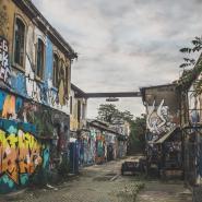 Grafitti, nahe Alte Chemifabrik Dresden