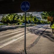 unter der Brücke Budapester Straße Dresden