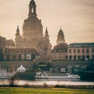 Altstadt Dresden Frauenkirche morgens
