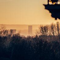 Schornsteine Kraftwerk Nossener Brücke Dresden
