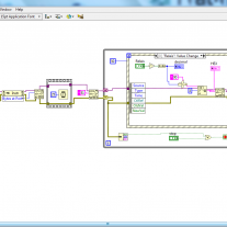 LabVIEW vi USB-Relay module block diagram